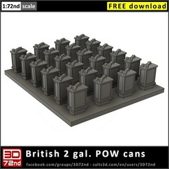 c3d_3d72nd_72_2_gal_pow_cans_cover.jpg Download free STL file 3D72nd - 1/72nd scale British 2 gal POW cans • 3D printer object, 3D72nd