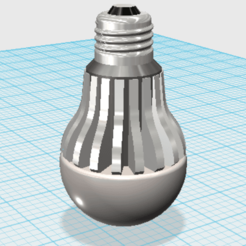 bombilla 2.png Download STL file LED bulb • 3D printer design, fagh776477