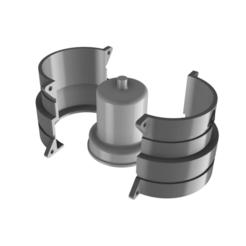 Descargar archivo STL MOLDE PARA MACETA DE CEMENTO TUNEL MARIO BROS • Plan imprimible en 3D, EngineerFer