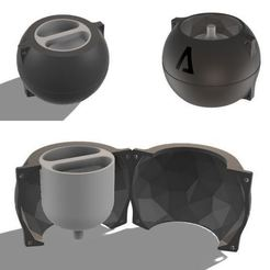 2.JPG Download STL file CEMENT POT MOULD LOW POLY SPHERE • 3D printable template, EngineerFer