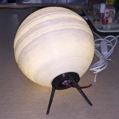 IMG_E0255a.jpg Download free STL file Jupiter Led Table Lamp (screw on version) • Template to 3D print, limhueysing