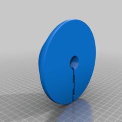 Wood_Base.png Télécharger fichier GCODE gratuit Lune de 14 cm avec lumière LED avec base (remixée) • Modèle pour impression 3D, limhueysing