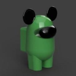 20201027_123212.jpg Download STL file AMONG MICKEY • 3D printing template, sebastiancabral719