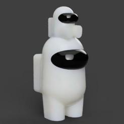 AMONGCITO SENTADO-picsay.jpg Download STL file AMONG US WITH AMONG SENTADO • 3D printable object, sebastiancabral719