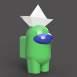 WhatsApp Image 2020-10-24 at 18.25.08 (8).jpeg Download STL file AMONG US WITH PAPER BOAT • 3D printing template, sebastiancabral719