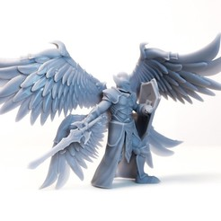 Download 3D printer templates Angelic Guard - DnD Character - 2 Poses, DCA-tabletop