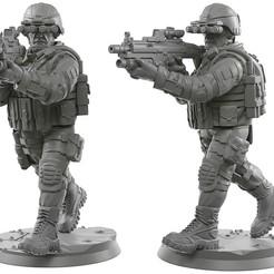 Download free 3D printing templates Usa modern soldier, strannik1988