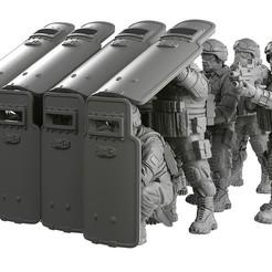 Télécharger fichier STL L'équipe des boucliers antiémeutes • Modèle imprimable en 3D, strannik1988
