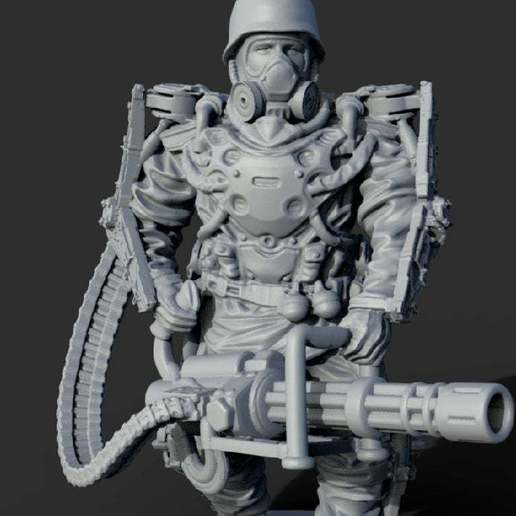 Download Free Obj File Sci Fi Soldier 3d Printing Template Cults
