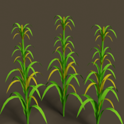 bajri1.png Download STL file 3D corn plant  • 3D printing template, blender382