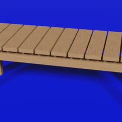 1bench.png Télécharger fichier STL Banc en bois simple en 3D • Plan pour impression 3D, blender382