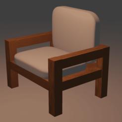 0001.png Download STL file 3D wood chair  • 3D print object, blender382