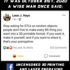 oiriginal_post_thingiverse.png Download free STL file Stop asking for STL's! • 3D printing template, akjmphoto