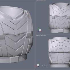 Screen Shot 2020-09-25 at 11.45.39 AM.png Download STL file Mobile Infantry Armor Torso for Imperial Guard Miniatures • 3D printing object, BiancaW