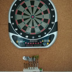 IMG_20200810_124841.jpg Download STL file Storage rack for darts • 3D printing design, Voile2012