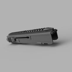 vz_recever_1.png Télécharger fichier STL Récepteur tactique Airsoft VZ61 avec rails prolongés • Objet à imprimer en 3D, rhysdavey