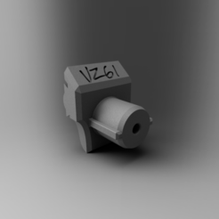 vz adapter.PNG Download STL file Airsoft VZ61 Stock Adapter - buffer tube • 3D printer template, rhysdavey