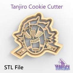 "Download 3D printer files Tanjiro Kamado from ""Kimetsu no Yaiba – Demon Slayer"" Cookie Cutter - STL file, Yumegica"