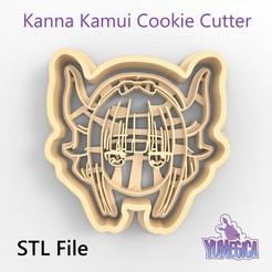 "Download 3D printer designs Kanna Kamui from ""Kobayashi-san Chi no Maid Dragon - Miss Kobayashi's Dragon Maid"" Cookie Cutter - STL file, Yumegica"