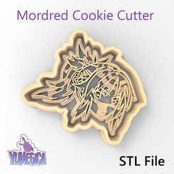 "fate_mordred_front.jpg Download STL file Mordred from ""Fate/Grand Order"" Cookie Cutter - STL file • 3D printable object, Yumegica"