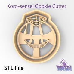 "Download 3D print files Koro-sensei from ""Assassination Classroom"" - Cookie Cutter STL file, Yumegica"