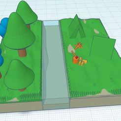 eeeeee.JPG Download STL file Tents in Nature diorama • 3D printable template, Aboutexodma