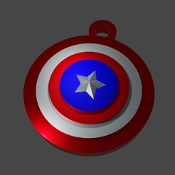 eeee.JPG Download STL file Cpt. America shield keychain  • 3D printer object, Aboutexodma