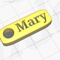 Mary.JPG Télécharger fichier STL Nom du porte-clés Mary • Modèle pour imprimante 3D, Aboutexodma