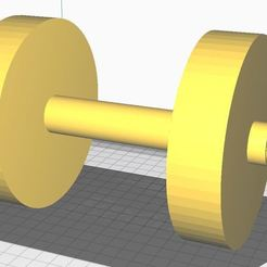 Dumbbell.JPG Download STL file Dumbbells with water as a weight for Workout • Model to 3D print, Aboutexodma