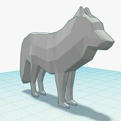 rqwrqwe.JPG Download STL file Low poly Wolf • 3D print template, Aboutexodma