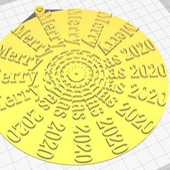 ewqweqds.JPG Download STL file Merry Christmas 2020 • Design to 3D print, Aboutexodma