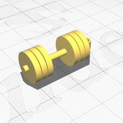 Dumbbells keychain.JPG Download STL file Mini Dumbbell keychain • 3D printing template, Aboutexodma