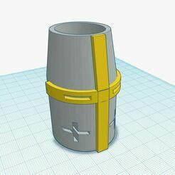 ttt.JPG Download STL file Templar helmet pen(cil)holder • 3D printing model, Aboutexodma