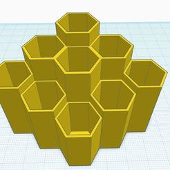 145.JPG Download STL file Honey Comb Pen/Pencil Organizer • 3D printing model, Aboutexodma