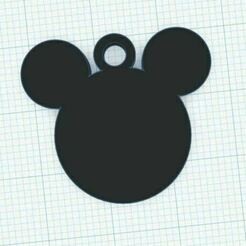 mic.JPG Download STL file Mickey mouse keychain • 3D printer template, Aboutexodma