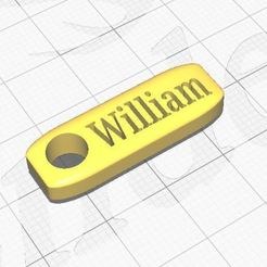 William.JPG Télécharger fichier STL Nom du porte-clés William • Design à imprimer en 3D, Aboutexodma