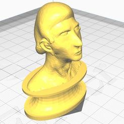 bust.JPG Télécharger fichier STL Homme animé regardant vers le haut (Buste/ Sculpture) • Objet pour impression 3D, Aboutexodma