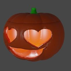 pump.JPG Download STL file Pumpkin heart eyes and smile V2 • 3D printer template, Aboutexodma