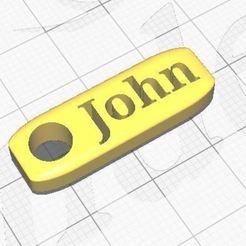 John.JPG Télécharger fichier STL Nom du porte-clés John • Design à imprimer en 3D, Aboutexodma