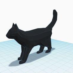 qweasd.JPG Download STL file Low poly walking cat • 3D print object, Aboutexodma