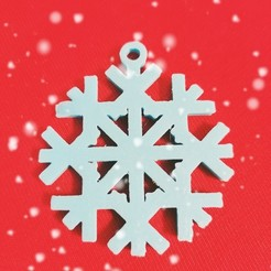 IMG_20201103_153937.jpg Download STL file Christmas Snowflake Decoration • 3D printer object, Aboutexodma
