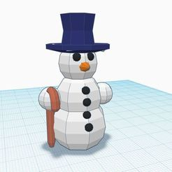 new.JPG Download STL file Low poly snowman  • 3D print design, Aboutexodma