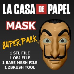 Flyer Cults.jpg Descargar archivo OBJ Super Pack - La Casa de Papel Mask - Print, Base Meshes and Zbrush Tool • Objeto para impresión 3D, aleplanascadogan