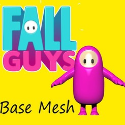 "Fall Guys Flyer.jpg Télécharger fichier OBJ gratuit FILET DE BASE DU TYPE ""FALL GUY"" [LIBRE] • Modèle pour imprimante 3D, aleplanascadogan"