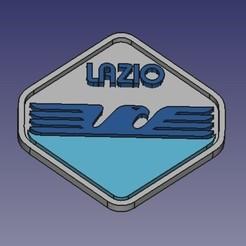 logolazio.jpg Télécharger fichier STL gratuit logo du ss lazio • Objet à imprimer en 3D, franz77
