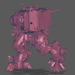 Lemmingspawns Old.JPG Download free STL file Chaos KV-2 Walking Tank • 3D printer model, jeffwrbelis