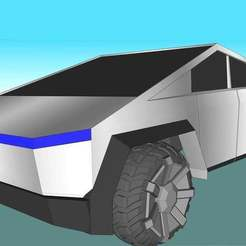 Download free STL file Cyber Truck 1:10 scale • 3D printing model, alihoshyar89