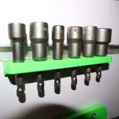 Impresiones 3D gratis soporte de la toma de corriente del taladro, alihoshyar89