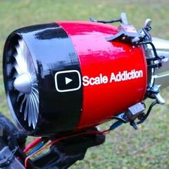 IMG_7917.jpg Télécharger fichier STL Moteur à réaction avec vecteur de poussée fonctionnel • Plan à imprimer en 3D, ScaleAddiction