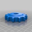driver_gear.png Télécharger fichier STL gratuit Snow Tracks à l'échelle 1:8 All Terrain Traxx pour les voitures RC • Design imprimable en 3D, alihoshyar89